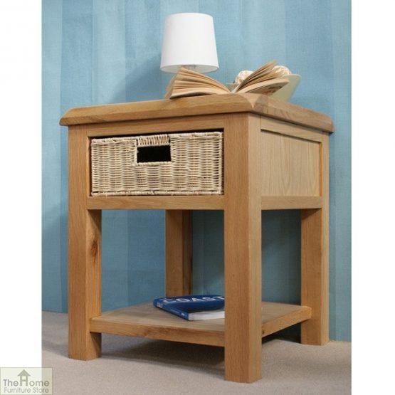 Pembury Oak 1 Drawer Lamp Table_8