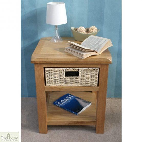 Pembury Oak 1 Drawer Lamp Table_2