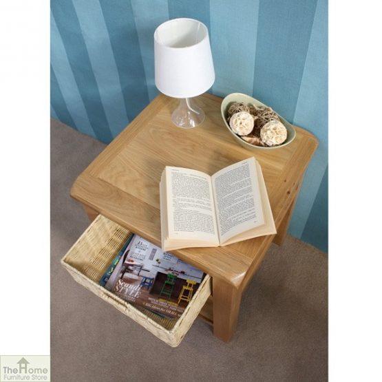 Pembury Oak 1 Drawer Lamp Table_6