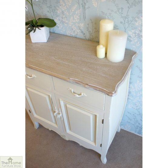 Devon Shabby Chic 2 Drawer 2 Door Sideboard_6