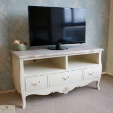 Devon Shabby Chic 3 Drawer 2 Shelf TV Unit