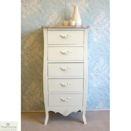 Devon Shabby Chic 5 Drawer Tallboy_1