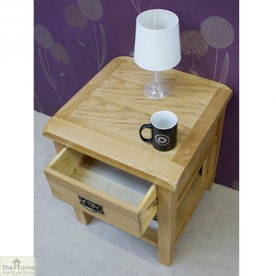 Farmhouse 1 Drawer Lamp Table_4