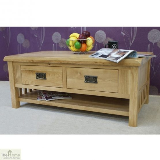 Farmhouse Oak 2 Drawer Coffee Table_3