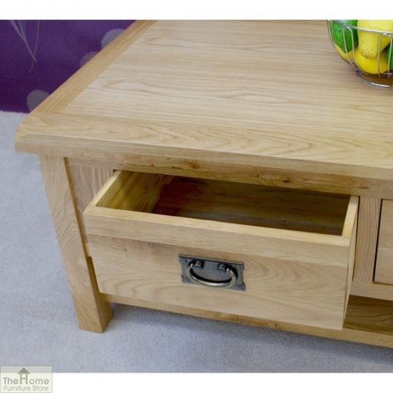 Farmhouse Oak 2 Drawer Coffee Table_6