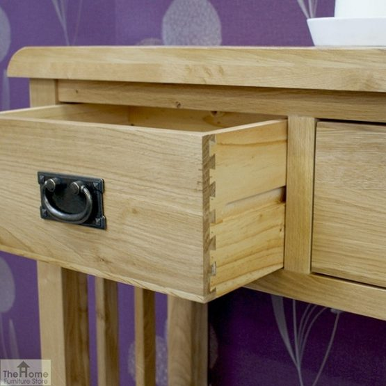 Farmhouse 2 Drawer Console Table_6