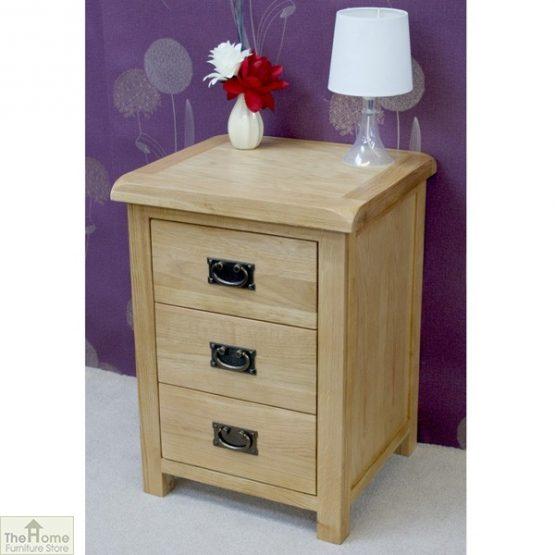 Farmhouse 3 Drawer Bedside Cabinet_3