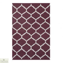 Handwoven Cotton Patterned Reversible Rug_1