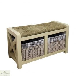 Selsey Wicker 2 Seater Storage Bench