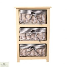 Selsey 3 Drawer Wicker Storage Unit