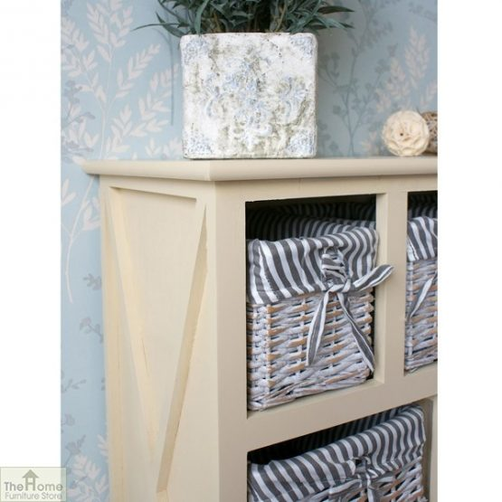 Selsey Wicker 5 Drawer 1 Door Storage Unit_4