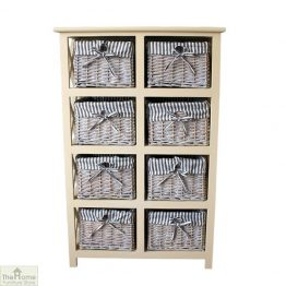 Selsey 8 Drawer Wicker Storage Unit