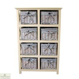 Selsey 8 Drawer Slim Storage Unit