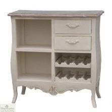 Devon Shabby Chic 2 Drawer 2 Shelf Wine Rack