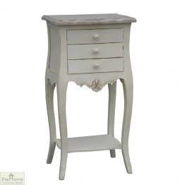 Devon 3 Drawer Bedside Table