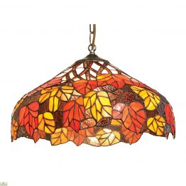 Red & Orange Leaf Pendant Light Shade