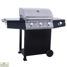 St Vincent 3 Burner Stainless Steel Gas BBQ
