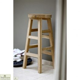 Raw Oak Tall Bar Stool_1