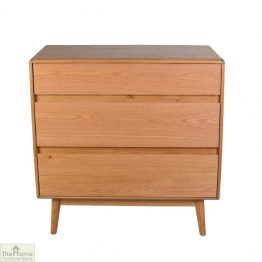 Casamoré Retro Style Oak 3 Drawer Chest