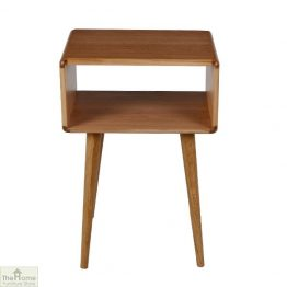 Casamoré Retro Style Oak Side Table Unit