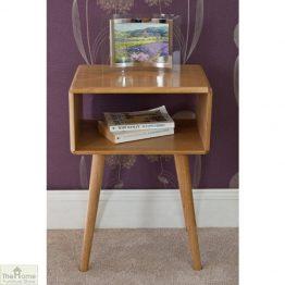 Retro Style Oak Bedside Table_1