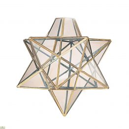 Star Pendant Light Shade Brass