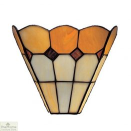 Brown Tiffany Bistro Wall Light