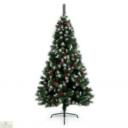 1.8m Berry and Pine Tipped Christmas Tree