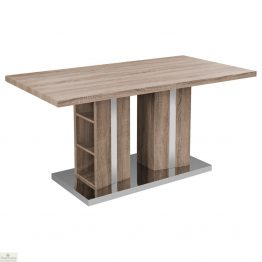 Dining Table With Integral Shelving