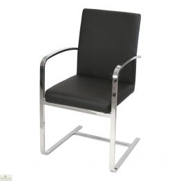 Cantilever Steel Carver Dining Chair