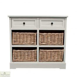 Gloucester 2 Drawer 4 Basket Storage Unit