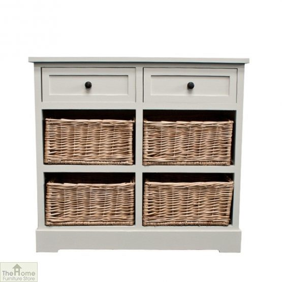 Gloucester 2 Drawer 4 Basket Storage Unit