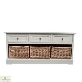 Gloucester 3 Drawer 3 Basket Storage Bench