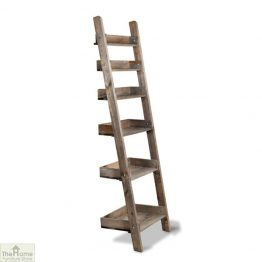 Rustic Wooden Shelf Ladder