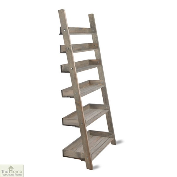 rustic shelf ladder wide rustic wooden shelf ladder the home furniture 11834