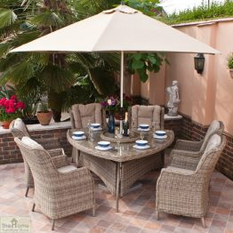 Casamoré Corfu 6 Seater Triangular Dining Set