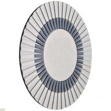 Round Glass Starburst Mirror