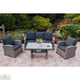 Casamoré Milan Casual Dining Set in Flint Grey