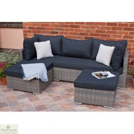 Casamoré Milan Petite Sofa Set in Flint Grey