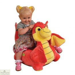 Plush Pink Dragon Riding Chair_1