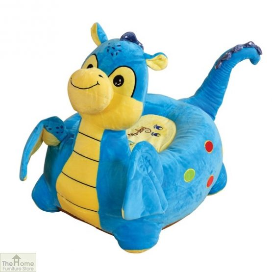 Plush Blue Dragon Riding Chair