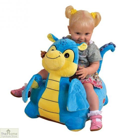 Plush Blue Dragon Riding Chair_1