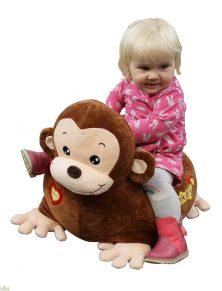 Plush Monkey Riding Chair