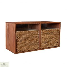 Casamoré Oak 2 Drawer Wall Unit