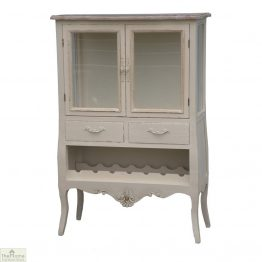 Devon Shabby Chic Wine Rack 2 Door 2 Drawer