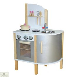 Grey Contemporary Wooden Toy Kitchen