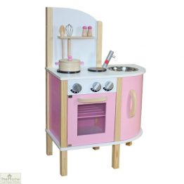 Pink Contemporary Wooden Toy Kitchen_1