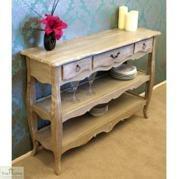 Casamoré Bordeaux 3 Drawer 2 Shelf Console Table_1