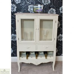 Devon Shabby Chic Wine Rack 2 Door 2 Drawer_1