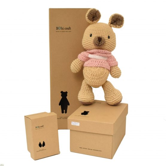Kangaroo Knitted Toy Pink_1